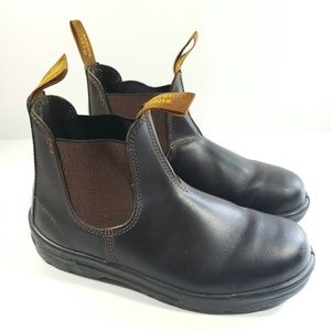 Mens Blundstone slip on boots brown sz 8 S5